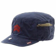 340cc2b3b89 Kurtz Men s Fritz Airborne Navy Cotton Military Cap Hat