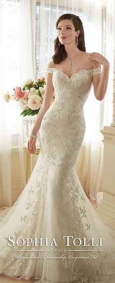 sophia tolli off the shoulder lace wedding dresses spring 2016 Y11634