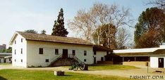 Sutters Fort in Sacramento; Central Building  which housed up to 160 people.