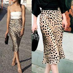 Womens Long Skirt Leopard Print High Waist Ladies Sexy Fashion Cocktail Club Dress S - Club Dresses - Ideas of Club Dresses Jupe Midi Leopard, Leopard Print Skirt, Leopard Skirt Outfit, Skirt Outfits, Dress Skirt, Midi Skirt, Look Fashion, Skirt Fashion, Fashion Brand