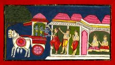 Sīta entrusting Kusa and Lava to Hanuman. Pune, c.1801-05