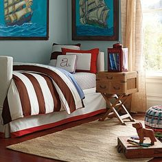 Asher Bedding For Boys Rooms contemporary kids bedding