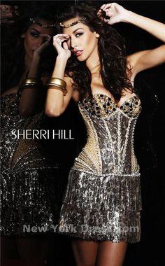 1e03acfae22 Sherri Hill 2889 Dress - NewYorkDress.com Short Strapless Prom Dresses