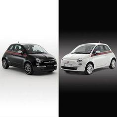 Co wybierasz – delikatność bieli czy charakter czerni? #Fiat #Fiat500