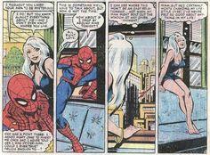 Amazing Spider-Man (Vol. Spiderman Black Cat, Black Cat Marvel, Spiderman Art, Alex Ross, Marvel Ultimate Spider Man, Black Cat Comics, John Romita Jr, Comic Book Panels, Boy Character