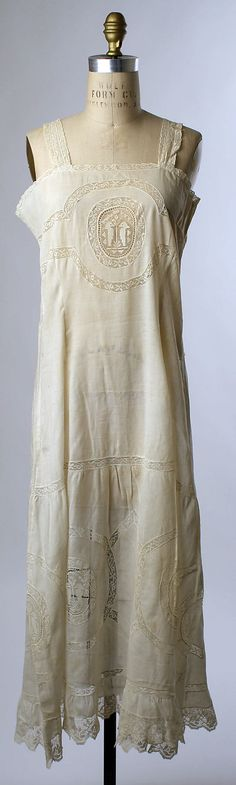 """Underskirt  Date: ca. 1905""  This would be great for the Cult Party influenced dolly kei that's in style right now..."