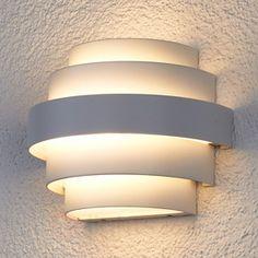 Enisa white LED wall light for outdoor areas sicher & bequem online bestellen bei Lampenwelt.de.