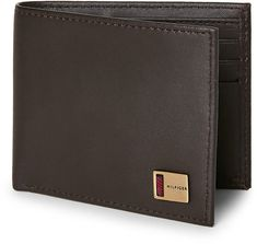95501f62c17 tommy hilfiger Brown Leather Kendall Passcase Wallet. Tony The Star Wars  Guy · Wallets