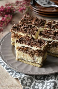 Polish Cake Recipe, Polish Desserts, Xmas Food, Food Cakes, Cake Cookies, Tiramisu, Cake Recipes, Cheesecake, Good Food