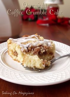 Overnight Coffee Crumble Cake | Taking On Magazines | www.takingonmagazines.com