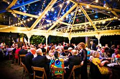 clear top frame tent string lights at Rockwood Manor in Potomac, Maryland by Bellwether Events and Kurstin Roe Photography