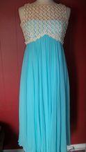 True Vintage 1950s/1960s sheer Full Length Ball/Prom Gown Dress