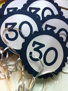 30th Birthday Centerpiece Signs  by FromBeths on Etsy, $9.50