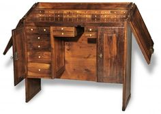 Goldsmith, Silversmith, & Jewelry Tools, Old and New Workbench Plans, Woodworking Plans, Jewelry Studio Space, Secret Compartment Box, Jewelers Workbench, Twin Canopy Bed, Bench With Drawers, Jewellers Bench, Antique Furniture