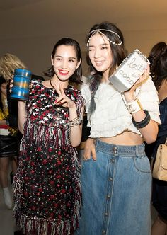 with Kiko Mizuhara at Culture Chanel exhibition opening.