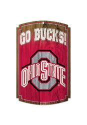 12 inch Team Color Fan Creations NCAA Ohio State Buckeyes Unisex Ohio State University Floral State Sign