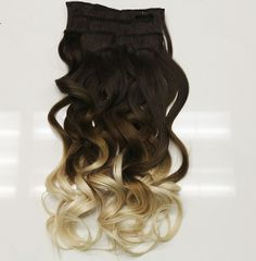"""New! Ombre clip in hair extensions. Choose from 3 color combinations. 7 wefts, 20"""" length.  http://leylamilanihair.com/collections/ombre #ombre #leylamilanihair #clipinextensions"""
