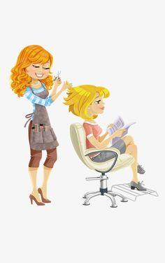 cartoon characters,character,cartoon creative,cartoon girl,barber,haircut,hairdressing,cartoon,characters,creative,girl