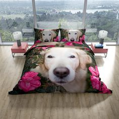 Labrador Puppy Pooch Dog Double Quilt Doona Duvet Cover Set · Includes 1 Quilt cover and 2 pillowcases The reverse side is white · Queen size * · new Supersoft lightweight brushed microfibre fabric -Machine [. Duvet Bedding, Bed Covers, Animal Print Bedding, Double Quilt, White Queen, Quilt Cover Sets, Cover Size, Queen Size, Dogs And Puppies