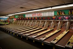 Remember Skee Ball? They have these in New York Hotel Las Vegas. We played for a half hr.