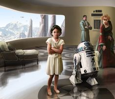 Leia Organa as a Child by Benoît Dromby