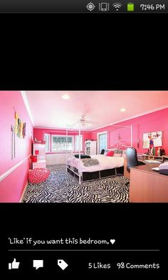 Teen bedroom zebra print