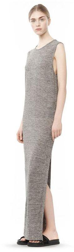 Long Linen Jersey Muscle Dress