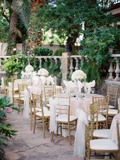 Blush and gold, gold chiavari chairs, white flowers, reception decor, blush reception ideas - Rachel Solomon Photography Blog | Madison and Brian – The Wright House Wedding | http://blog.rachel-solomon.com