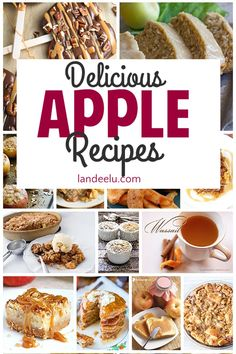 These apple recipes look soooo yummy! I can't wait to try them! Take your apple loving game to the next level and give some of these apple concoctions a try. #applerecipes #fallrecipes #apples