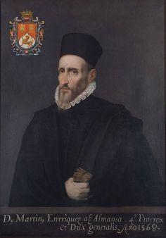 Don Martín Enríquez de Almansa, virrey de la Nueva España.
