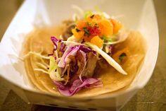 Duck Confit Tacos (hoisin sauce, mandarin/citrus salsa)