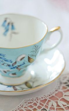 Nothing as lovely as the elegance of a tea cup & saucer.