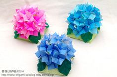 猛暑が続いていましたが、どうやら関東も梅雨入りしたようです。 今回は梅雨の季節に... Origami Flowers, Paper Flowers, School Decorations, Paper Art, My Favorite Things, Creative, Diy, Handmade, Crafts