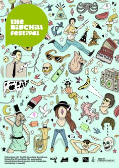 The Big Chill Festival Poster by Toby Triumph Big Chill, Festival Posters, Flat Illustration, Night Life, Festivals, Illustrators, Typography, Behance, The Incredibles