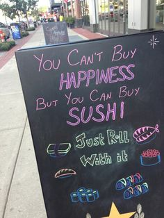 Sign with a Sushi quote Sushi Food, Sushi Art, Island Sushi, Sushi Quotes, Sushi Drawing, Sushi Ideas, Cool Captions, Sushi Recipes, Food Court
