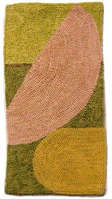 'Swing' (2009) by American artist Altoon Sultan (b 1948). hand-dyed wool on linen, 20 x 10 inches. via Studio and Garden