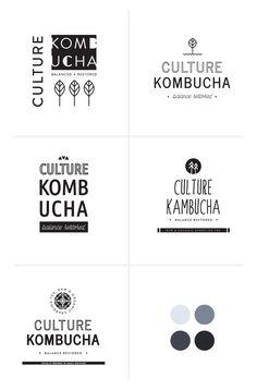 design process: branding + label concepts / irene victoria Design Websites, Modern Logo Design, Web Design, Social Media Branding, Kombucha Brands, Logo Color Schemes, Irene, Website Design, Toronto