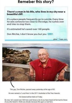 I have the original article saved on my computer and have read it many times during the past couple years. What an amazing soul! His love & faith will live on and continue to inspire.-Faith in Humanity Restored Sweet Stories, Cute Stories, The Neighbor, Human Kindness, Touching Stories, Gives Me Hope, Faith In Humanity Restored, Good People, Amazing People
