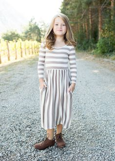 boutique, Ryleigh rue, mommy and me, Matching, dress, Striped dress, 3/4 sleeve dress, online shopping, online boutique