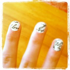 """In """"love"""" with these sticker nails! :-)"""