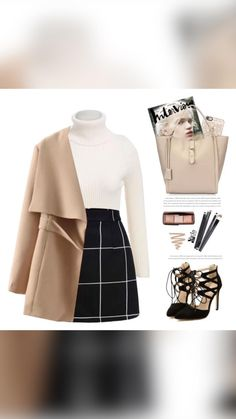 Komplette Outfits, Cute Casual Outfits, Pretty Outfits, Stylish Outfits, Classy Outfits For Teens, Classic Outfits, Skirt Outfits, Work Outfits, Mode Pastel
