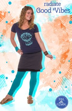 Radiate good vibes with clothes that are made with Mother Earth in mind! #soulflowerbuds #ecofriendlyfashion #hippie #natural #organic
