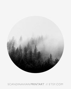 Digital Download Art // Forest - minimalist Welcome to SCANDINAVIAN PRINT ART! ★ Buy 2 - get 4 PRINTS! - Select 4 prints in your cart and use code BUY2GET4 at checkout to get 2 of them free! ★ Print out the art on your printer at home, or use a local o