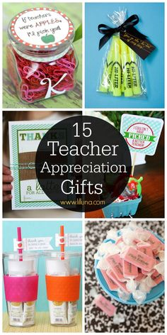 A roundup of Teacher Appreciation Gifts - lots of great crafts and FREE printables to make for the perfect gift for all those awesome teachers! Employee Appreciation, Teacher Appreciation Week, Teacher Christmas Gifts, Teacher Gifts, Easy Gifts, Homemade Gifts, Teacher Birthday, School Gifts, Diy Arts And Crafts
