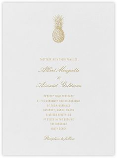 Forsythia Save The Date metallic gold simple wedding invitations