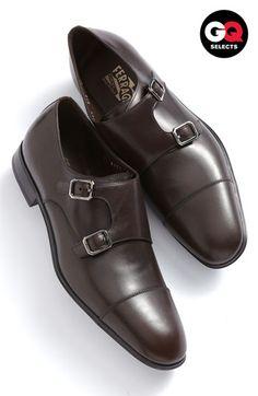 Salvatore Ferragamo 'Addo' Double Monk Strap Shoe available at Best Shoes For Men, Men S Shoes, Gq, Sock Shoes, Shoe Boots, Men Dress, Dress Shoes, Double Monk Strap Shoes, Gentleman Shoes