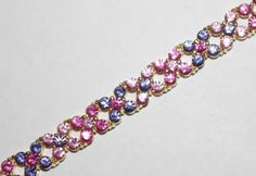 Joan Rivers Bracelet Crystal Pink and Purple by SCLadyDiJewelry Crystal Bracelets, Jewelry Bracelets, Jewellery, Bracelet Set, Bracelet Making, Joan Rivers Jewelry, Etsy Business, My Etsy Shop, Group