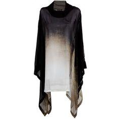 Black silk dress from Ann Demeulemeester