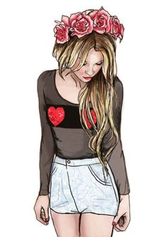 Resultado de imagen para tumblr girl drawing fashion