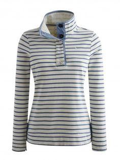 Joules Cowdray Salt Wash Sweatshirt Light Indigo